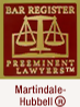Bar Register Preeminent Lawyers Martindale Hubbell